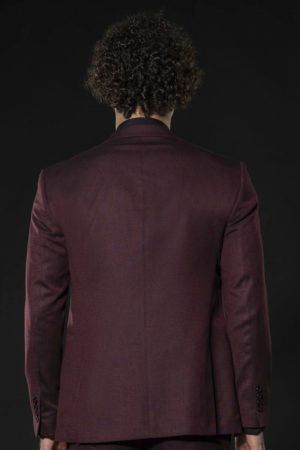 Pinpoint Anzug in noblem Bordeaux
