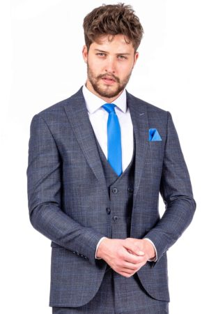 Eleganter Herrenanzug Blau (Slim-Fit)
