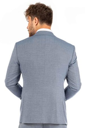 Alltagsanzug in Babyblau (Slim-Fit)